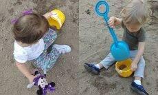 Brincar na areia é diversão garantida