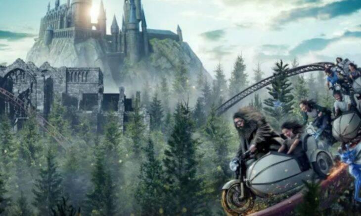 Montanha-russa do Hagrid, no parque Universal, em Orlando / Foto: Divulgação