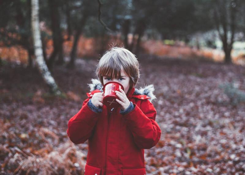 crianças podem tomar café