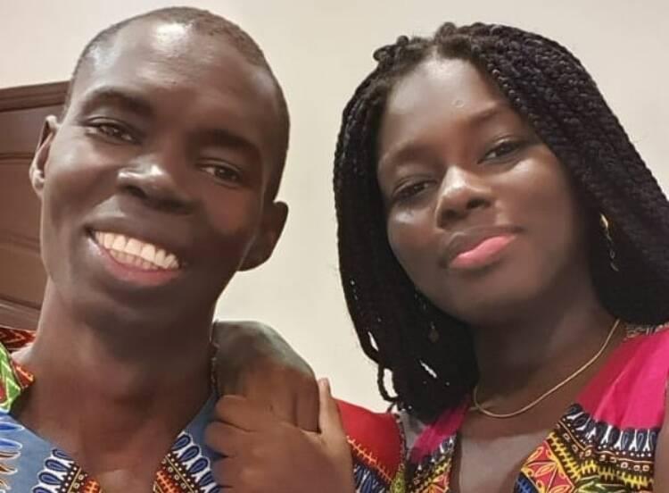 Fatou Ndiaye com o pai