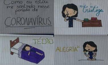 UNICEF convida crianças a desenhar para mostrar como estão se sentindo com a pandemia de coronavírus