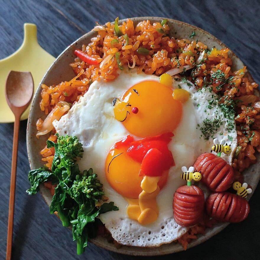 Mãe japonesa prepara refeições incrivelmente elaboradas para os filhos