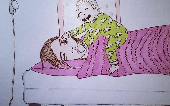 Desenho mãe e filho