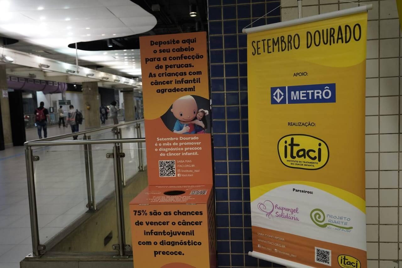 Metrô de São Paulo recebe doações de cabelos para crianças em tratamento contra câncer infantojuvenil